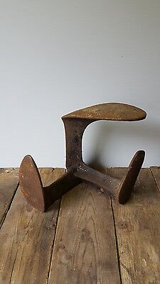 vintage antique cast iron  shoe last vintage cobblers shop display decor