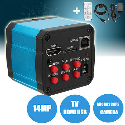 14MP 1080P Industry C-mount HDMI USB Microscope Camera Digital Video Recoder