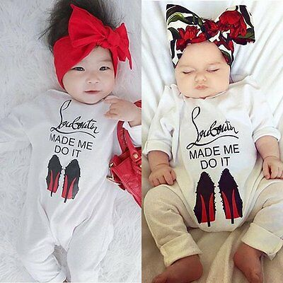 Newborn Kids Baby Girl Boy Bodysuit Romper Jumpsuit Playsuit Outfits Clothes Set