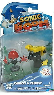 Sonic Boom Pack Of 2-3 Inch Plastic Figure Toy - Orbot & Cubot