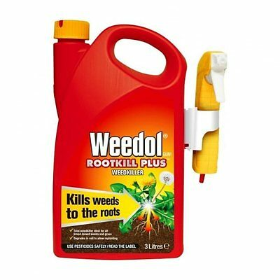 Weed Grass Killer Root Spray Weedol Plus Ready To Use 3 L Paths Drives Garden