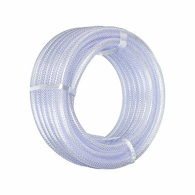 Clear Braided PVC Hose Pipe Tube Reinforced - Food Safe Grade - Water Per Metre