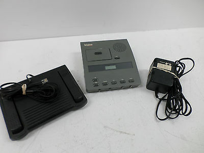 DICTAPHONE 3740 VOICE PROCESSOR MICROCASSETTE W/ TRANSCRIBER/Pedal/Power Supply
