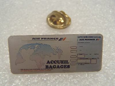 Pin's Air France Accueil Bagages Carte Acces A Bord