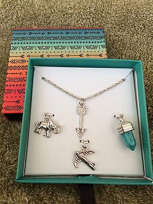 NIB. Justice 'Free Spirit' Necklace & Charms Set. Retail $12.90