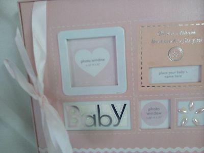 Baby Girl Keepsake Record Book and Photo Album Holds 90 Plus 4 X 6 Photos