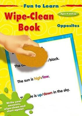 Fun to Learn - Write-Clean Book - Opposites *FREE P&P*