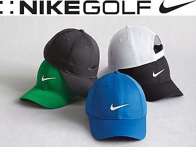 558736f40a7 New Mens Nike Golf Dry Fit Swoosh Low Profile Adjustable Baseball Cap Hat