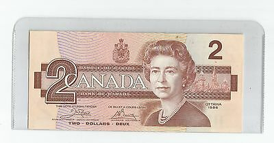 """1986 - Two Dollar Bank Note From Canada """" Bird Series  """" Crisp Unc """""""