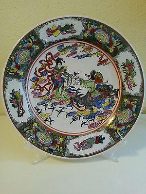 Antiguo plato porcelana china con el sello qianlong