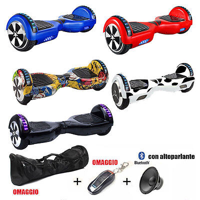 "Hoverboard 6.5"" Luci Led E Bluetooth Speaker, Borsa E Telecomando Inclusi"