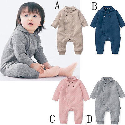 New Baby Collar Thick Cotton Romper Newborn Kid Long Sleeve One-Piece Clothes