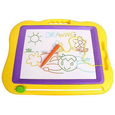 Magnetic Erasable Colorful Drawing Board Large Size Doodle Sketch J3E6