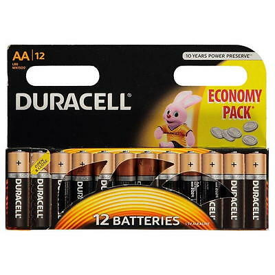 New Duracell AA 12 Pack batteries 1.5V Economy Pack