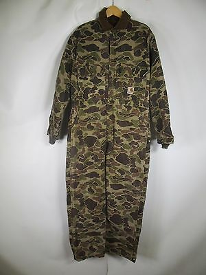 Men's Carhartt Camouflage Coverall Size 42 A0568
