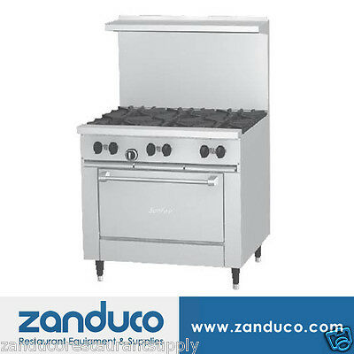"""Garland Sunfire™ X Series 36"""" Restaurant Range with 6 Burners and 26"""" Oven"""