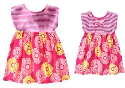 NEW Gymboree Hop N Roll Striped and Flower-Print Dress Size 5T NWT