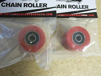 New Red Upper + Lower Chain Rollers YZ 125 250 250F 400F 426F 450F WR 1991-2016