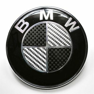 1x 82mm bmw carbon emblem heckklappe motorhaube schwarz 3. Black Bedroom Furniture Sets. Home Design Ideas