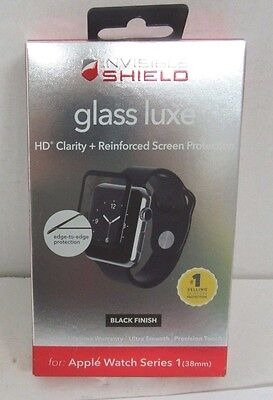 Zagg InvisibleShield Screen Protector Apple Watch Series 1 38mm Black Finish