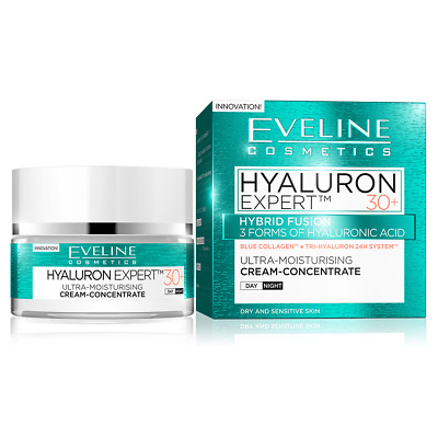 Eveline Bio Hyaluron 4D Ultra Moisturising Day&Night Face Cream 30+ SPF 8 50ml