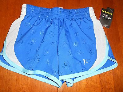NEW with tags Danskin Now girls shorts size XS extra small 4 - 5 blue athletic