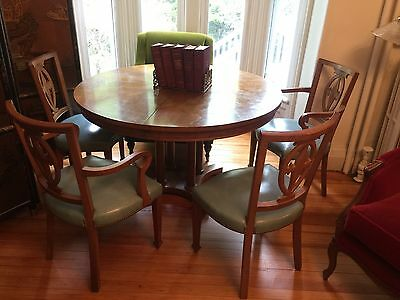 1940's BAKER co. Neoclassic Unique Dining Room Set ( 6 Chairs)