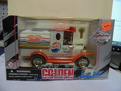 Pepsi Coin Bank Golden Classic Die Cast Special Edition 1996 Collectible