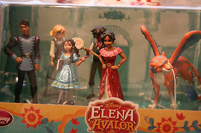 NEW Disney Store Elena of Avalor Figure Figurine 6 pcs Play Set Toys Princess