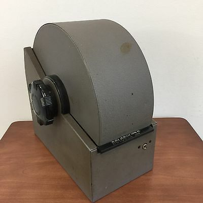 Vintage Zephyr American Metal Rolodex Model 2400-S With Dividers And Some Cards