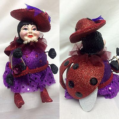katherine's collection Ladybug doll lady bug red purple black retired 7""