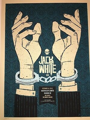 Jack White Poster Print Methane Austin City Limits 2012 White Stripes Rare AP