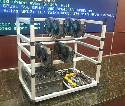 Crypto Coin Open Air Mining Rig Frame For 12 Gpu's. Ethereum,Zcash,Bitcoin