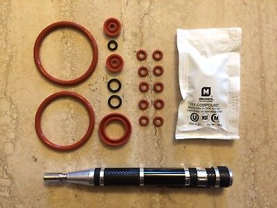 Jura OEM Brew Group & Drainage Valve O-Rings w/ Oval Bit Driver BIG DELUXE KIT 1