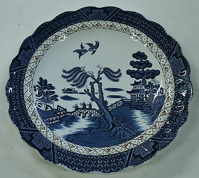"""Fine BOOTHS 'Real Old Willow' 9.75"""" Dinner Plate"""
