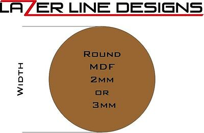 Laser Cut Round Bases in 2mm or 3mm MDF