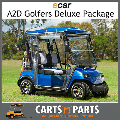 Ecar A2D Golfers Deluxe Full Package NEW GOLF CART Buggy 2 Seat Electric Blue
