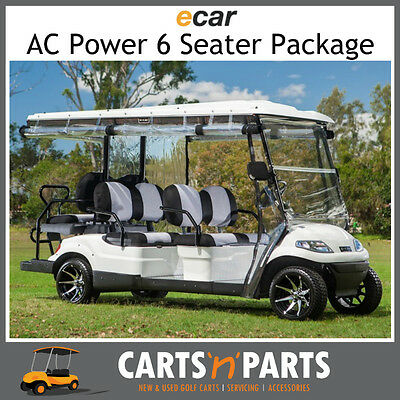 Ecar AC POWER DELUXE 6 Seat NEW GOLF CART Buggy 627 Series Full Deluxe Package W