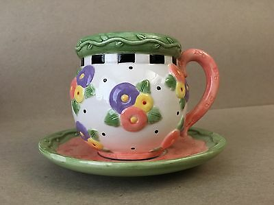 Mary Engelbreit Teacup & Saucer--Rare (April Showers)