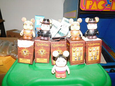 Disney Vinylmation 3' lot of 5 Indiana Jones