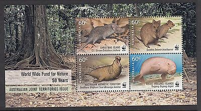Christmas Island 2011 WWF Joint Territories Issue Minisheet - CI704MS