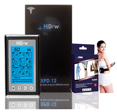 HiDow AcuXPD 12 Micro Physical Therapy Tens Unit Bundle Hi-Dow Acu-Belt For Back