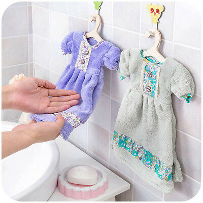 Soft Dress Shaped Super Absorbent Hand Towel Kitchen Cleaning Towel Dishcloth