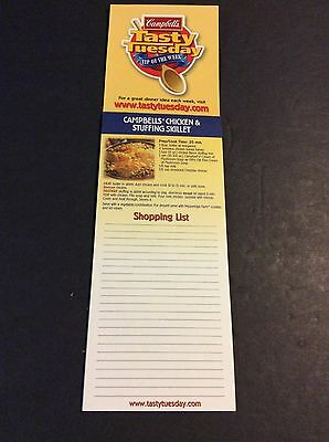 Campbell's Soup Company TASTY TUESDAY Magnet Shopping List 1990's Vintage