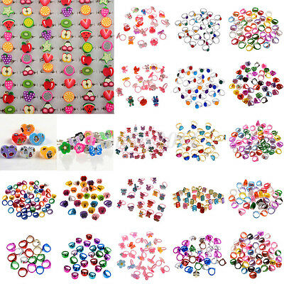 20Pcs Wholesale Mixed Lots Cute Cartoon Children/Kids Rings Jewelry Girl Rings