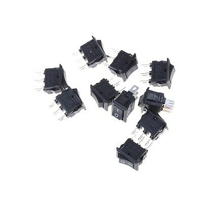 10pcs 10*15mm SPST 3PIN ON/OFF Boat Rocker Switch 3A/250V Car Dash Dashboard WS
