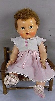 Vintage Tiny Tears Doll American Character Pink Dress