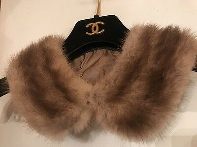 Vintage Childs Small Real Mink Fur Removable Collar Good for Doll
