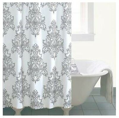 Versailles Damask Classic Fabric Shower Curtain Luxury Bath French Shabby Chic