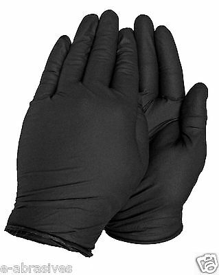 .Black Disposable Nitrile Gloves, Tattoo, Mechanic, NOT LATEX, Workshop, Garden